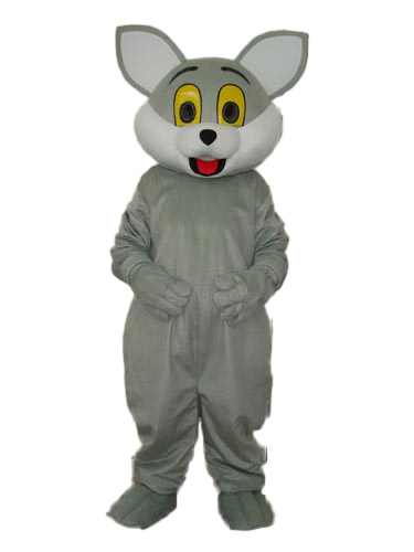 Hot selling!New clever Grey baby Cat Cartoon Fancy Dress Suit Outfit Animal Mascot Costume - Sam's World store
