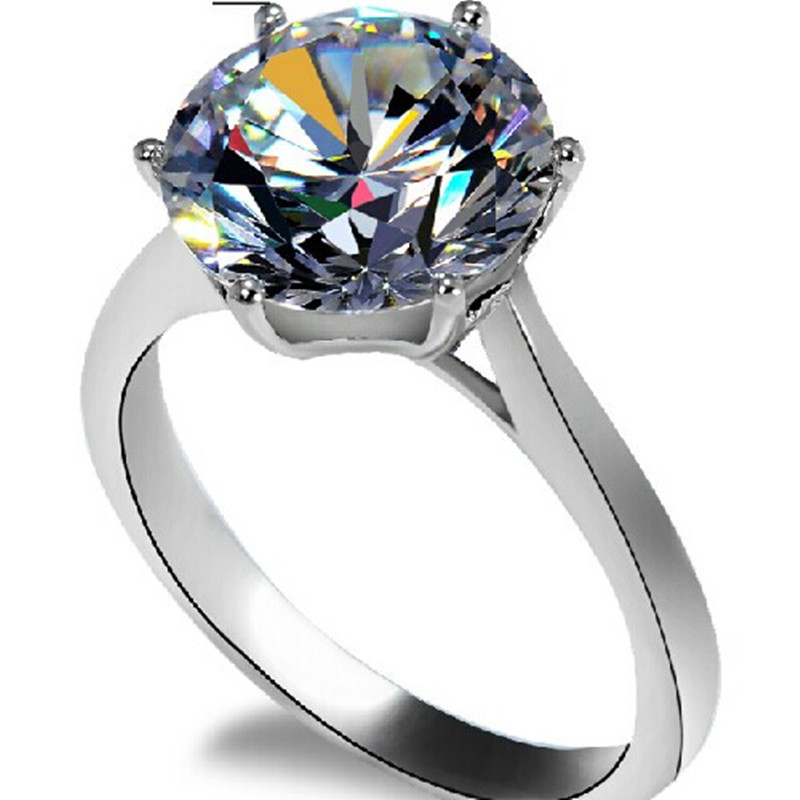 Famous Brand Moissanite Solid 14K Gold Ring 4 Carat Excellent Moissanite Engagement Ring For Women Anniversary Precious Jewelry(China (Mainland))
