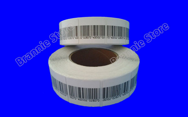 40000pcs/lot 40*40mm EAS soft label rf 8.2mhz eas rf sticker suitable with all rf eas system barcode/blank optional(China (Mainland))