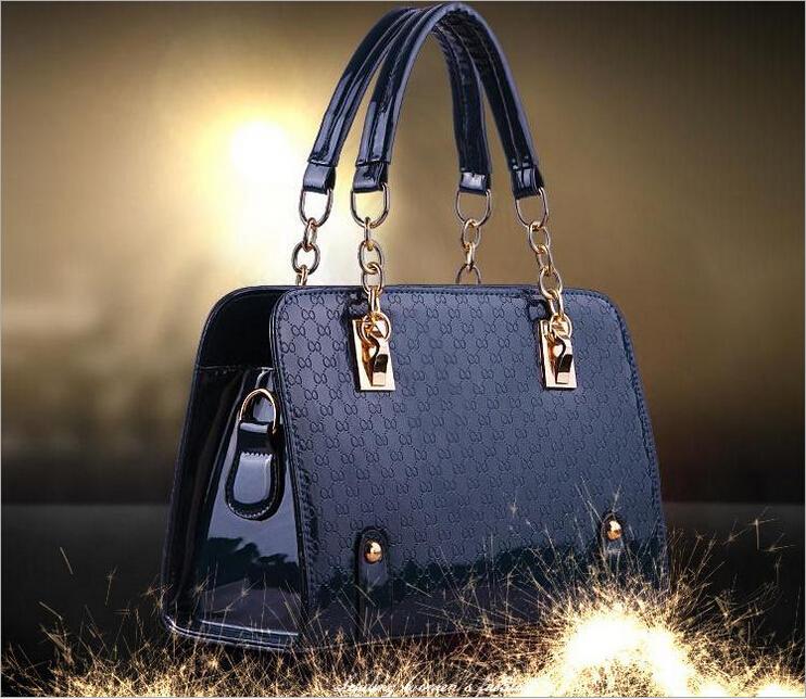 Low-priced sales of high quality luxury handbag New crocodile grain women handbag brand handbag leather + PU free shipping(China (Mainland))