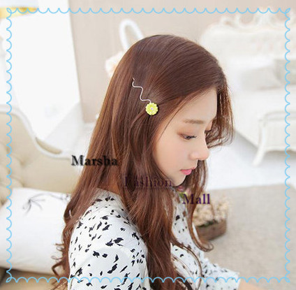 New Fashion Exquisite Flowers shilly Hairpins Hair Clip for Girls Barrette Hair Jewelry(China (Mainland))