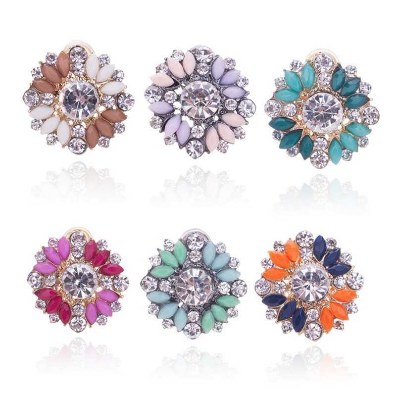 Hot Crystal Stud Earring Fashion Small Women Fine Jewelry Boucles Pendientes Gift BE168 - Q-Star Store (min order 1pc store)