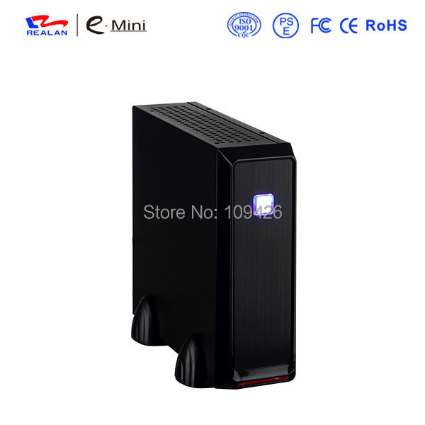 """REALAN Industrial Mini ITX Steel Htpc Case E-3019 with Power Supply (SECC 0.6mm, 2.5""""/3.5""""HDD, COM USB Fan Audio, 2 Colors)(China (Mainland))"""