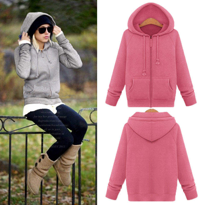 Hooded Long Sleeve Fuzzy Casual CoatОдежда и ак�е��уары<br><br><br>Aliexpress