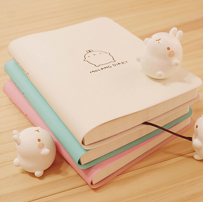 Cute Kawaii Cartoon Molang Rabbit Journal Notebook Diary 2015 2016 Planner Notepad for Kids Korean Stationery Free shipping 071(China (Mainland))