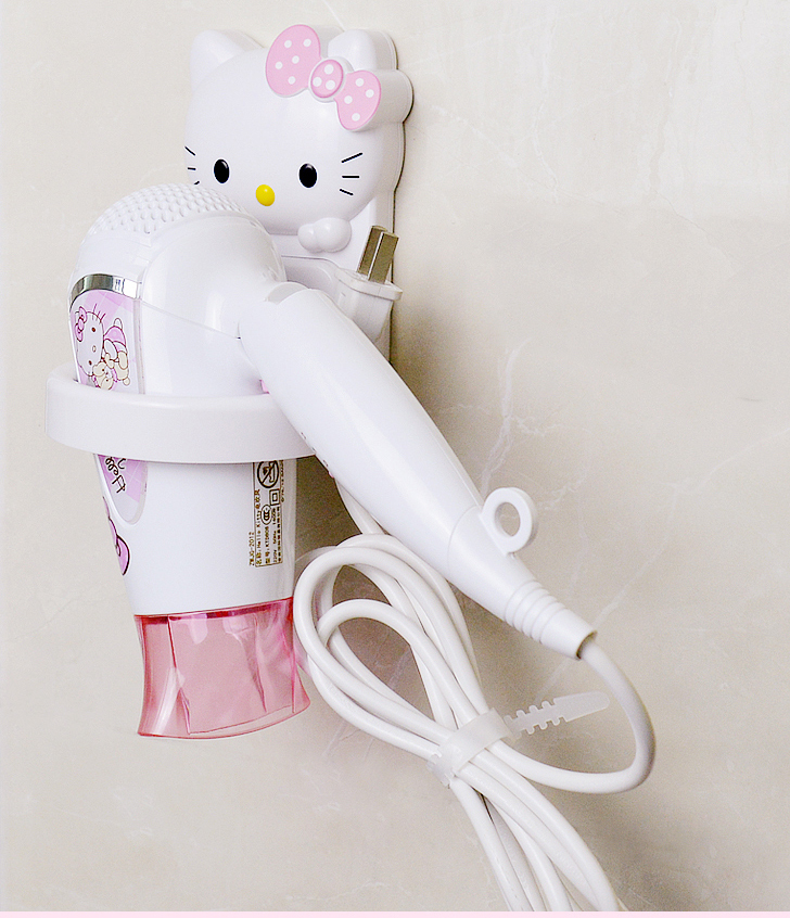 kawaii bathroom accessories hello kitty plastic hair dryer holder kt bathroom shelf in bathroom. Black Bedroom Furniture Sets. Home Design Ideas