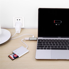 adapter usb 3.0 Super Fast Speed USB 3.0 Hub Adapter USB-C Type C Charging & Data Sync for New MacBook Free Shipping