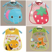 Baby Lätzchen EVA Wasserdicht Lunch Lätzchen Jungen Mädchen Kleinkinder Cartoon-Muster Lätzchen Spucktücher Für Kinder Selbst Fütterung Pflege(China (Mainland))