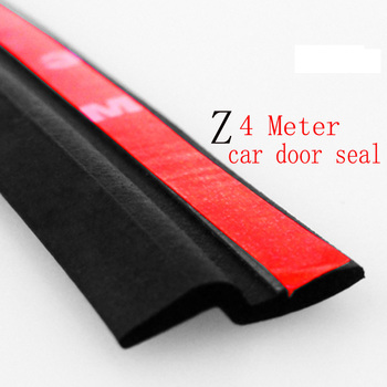 4Meter Z type 3M adhesive car rubber seal Sound Insulation , car door sealing strip weatherstrip edge trim noise insulation