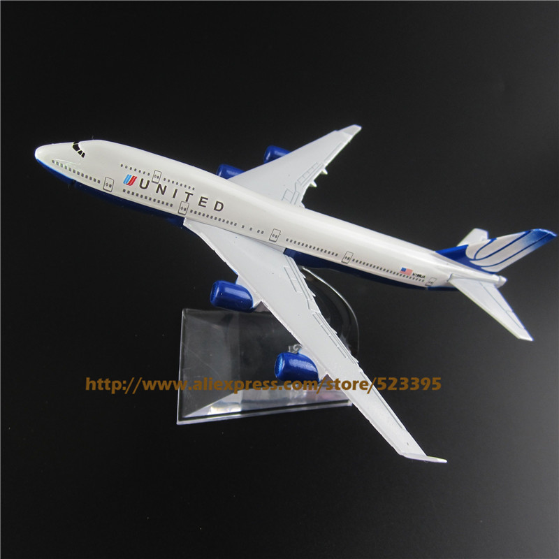 16cm Alloy Metal American Air United B747 Airlines Boeing 747 400 Airways Airplane Model Plane Model W Stand Aircraft Toy Gift(China (Mainland))