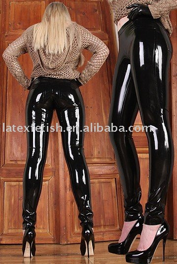 latex hose f r frauen latex mode hosen sexy hose latex hose latex schwarze hose in verschiedene. Black Bedroom Furniture Sets. Home Design Ideas