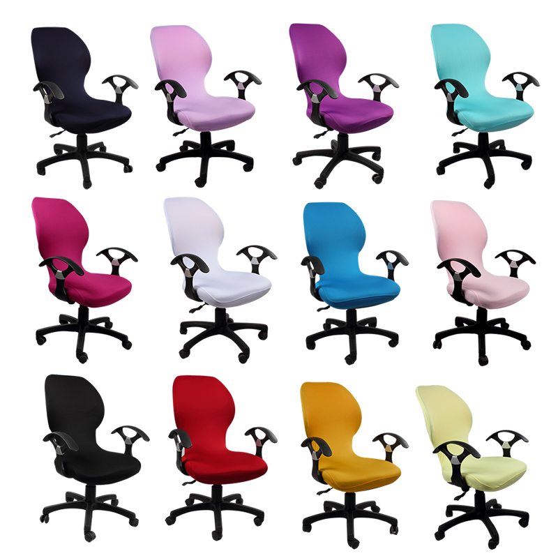 Wholesale Computer Chair Cover For Office Chair With Armrest Spandex Chair Cover Decoration(China (Mainland))
