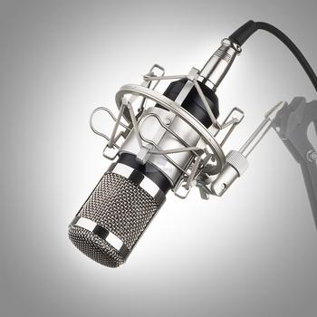Профессиональный БМ-800 BM800 Конденсатор Кардиоидный КТВ Микрофон Pro Audio Studio Запись Вокала Микрофон КТВ Караоке + Металл Подвес
