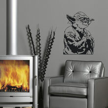 LARGE YODA STAR WARS CHILDREN BEDROOM WALL MURAL STICKER TRANSFER VINYL DECAL NURSERY ART DECALS WALL STICKERS