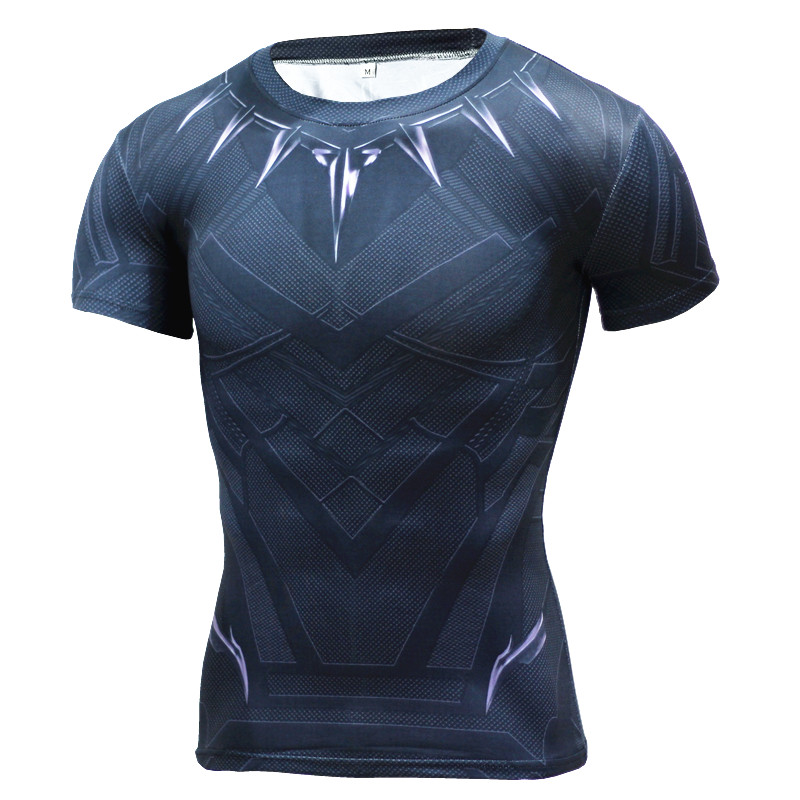 Black Panther T Shirt Captain America 3 Superhero Winter Soldier 3D Printed T-shirts Fitness Men Crossfit Compression  -  JACKET CORDEE Store store