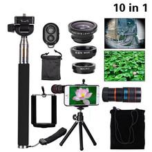 Buy 2017 10in1 Phone Camera Lentes Kit 8x Telephoto Lens Fish Eye Wide Angle Macro Lenses iPhone Xiaomi Selfie Stick Mini Tripod for $13.67 in AliExpress store