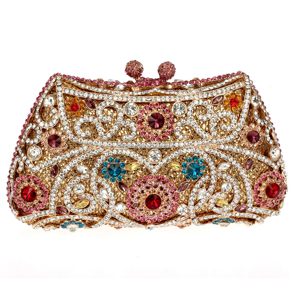 2014 New Arrival Beautiful Rhinestone Handbag Party Bag Zinc Alloy Metal Hollow Design Deluxe Evening Purse Free shipping<br><br>Aliexpress