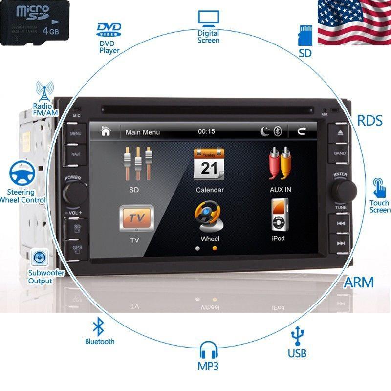 HD Сенсорный экран автомобиля DVD-плеер с 3D-6.2
