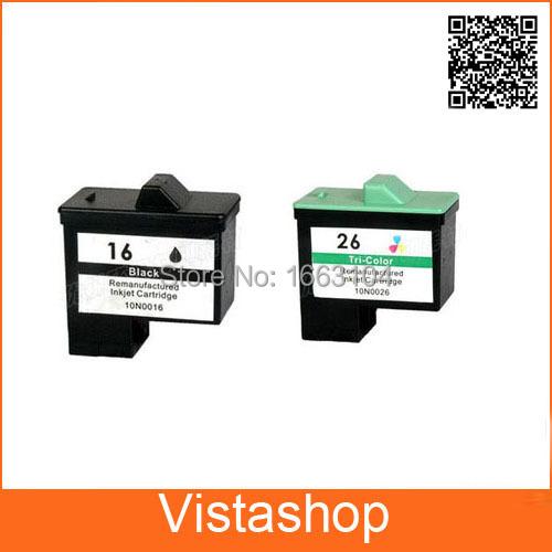 Гаджет  2piece Black and Color Ink Cartridge For Lexmark 16 26 For  i3 Z13 Z23 Z25 Z35 Z515 Z517 Z615 X1100 X1150 X2250 X75 X1195 X1290 None Офисные и Школьные принадлежности