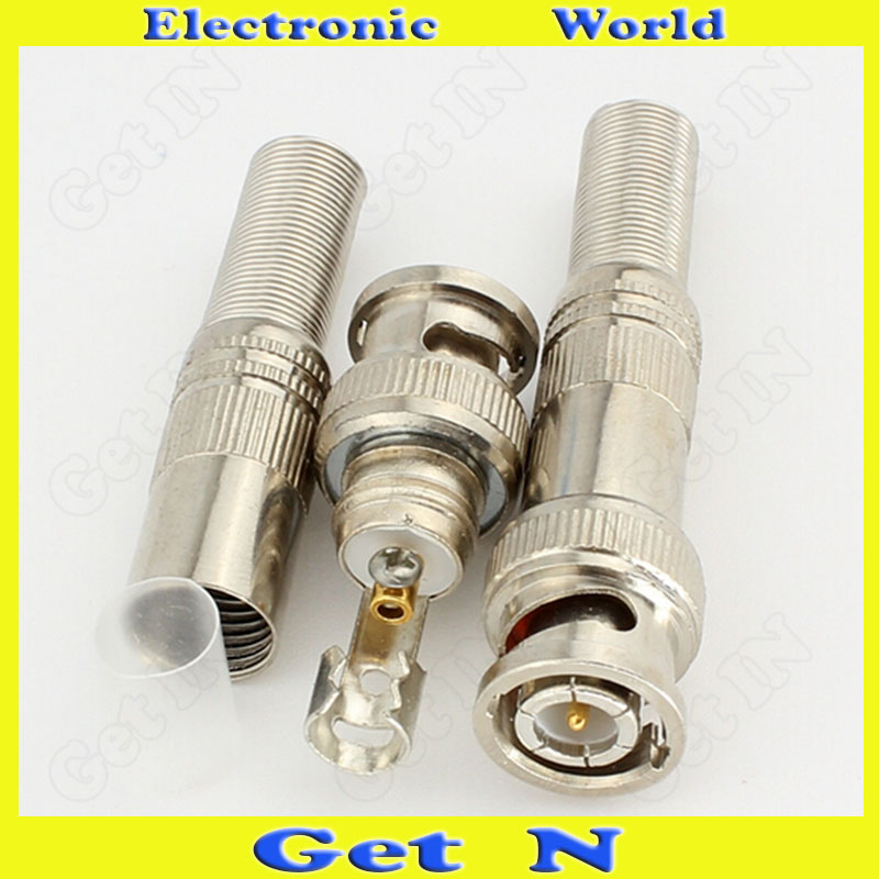 20pcs 75-5 Welding-Free Full-Copper BNC/Q9 Video Connector for CCTV System Monitor/Video Camera<br><br>Aliexpress