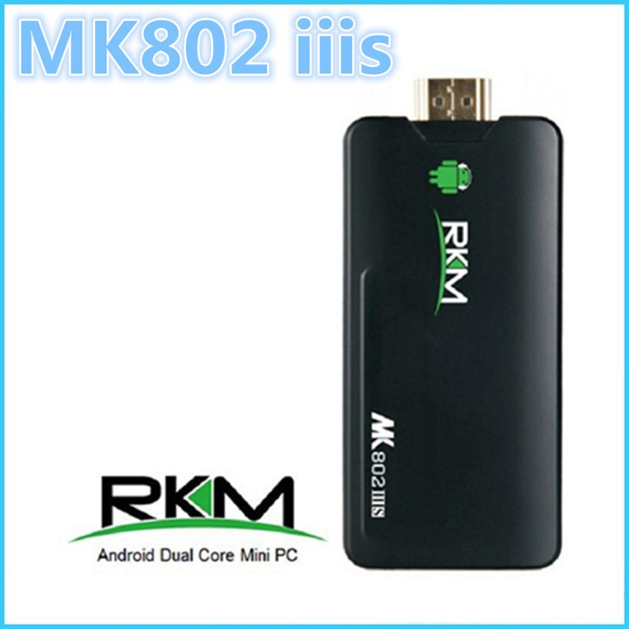 Rikomagic MK802 IIIS Mini PC Bluetooth Mobile Remote Control STB box RK3066 A9 1GB RAM 8G ROM HDMI TF Card MK802-IIIS MK802IIIS(China (Mainland))