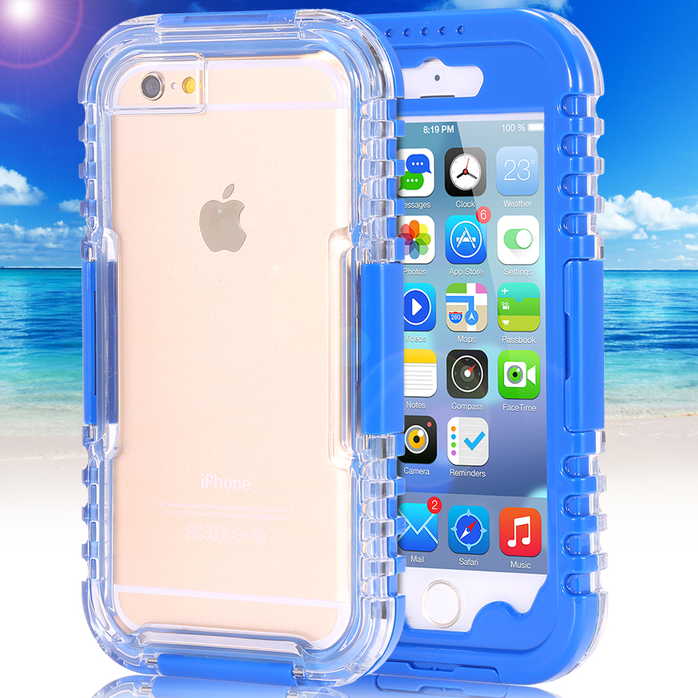 FLOVEME Durable Waterproof Shockproof Swim Case Cover Outdoor Case For iPod Touch 6 5 Pouch Heavy Duty Water Proof Bags(China (Mainland))