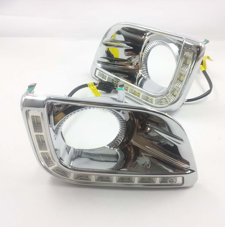 CAR-Specific LED Daytime Running Lights DRL Yellow turn signals fog lamp TOYOTA PRADO LAND CRUISER 2700 LC150 FJ150