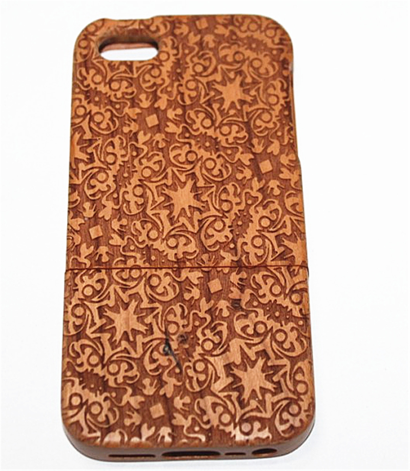 Natural Bamboo Wooden Wood Back Hard Case Cover Skin Apple IPhone 5 5G 5S. . - Myemarket store