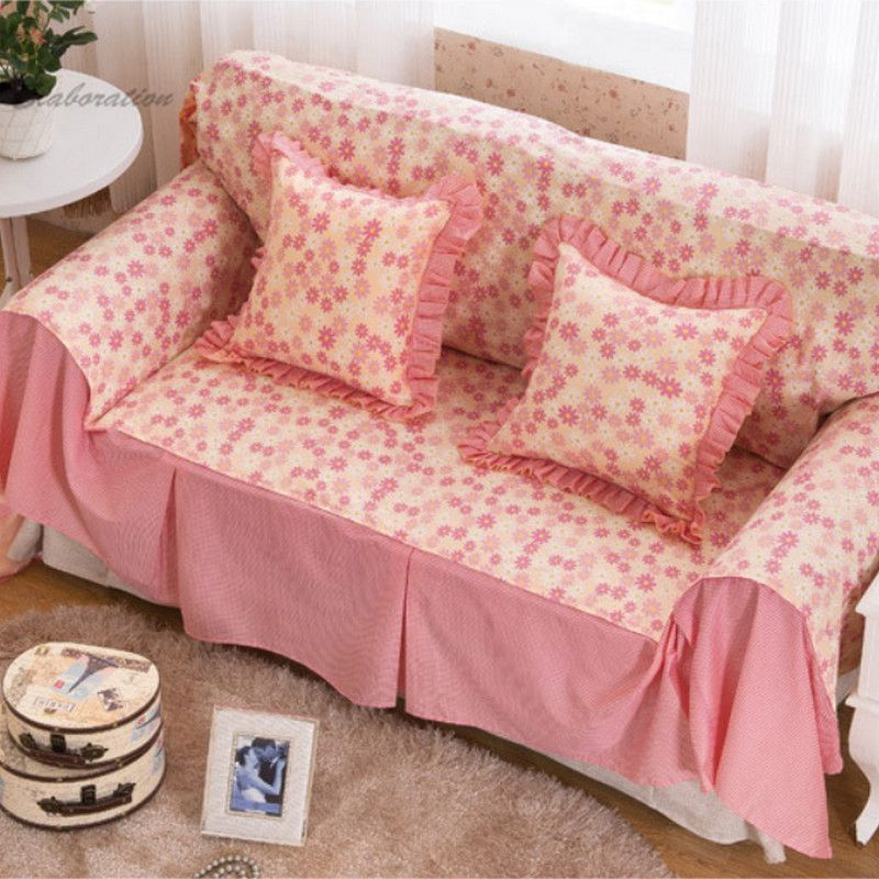 Cotton Print Sofa Cover Cushion Home Textile Double Covers