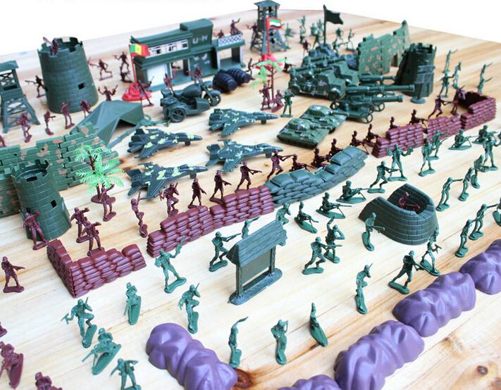 Soldier Toys For Boys : Pcs set cm lifelike mini military equipment plastic