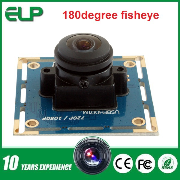 2mp 1080p 1/2.7'' CMOS OV2710 sensor 180degree fisheye lens android micro mini usb digital camera module ELP-USBFHD01M-L180