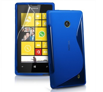 1X Hot Sell S Line Wave TPU Gel Case Cover For Nokia Lumia 520, Free Shipping