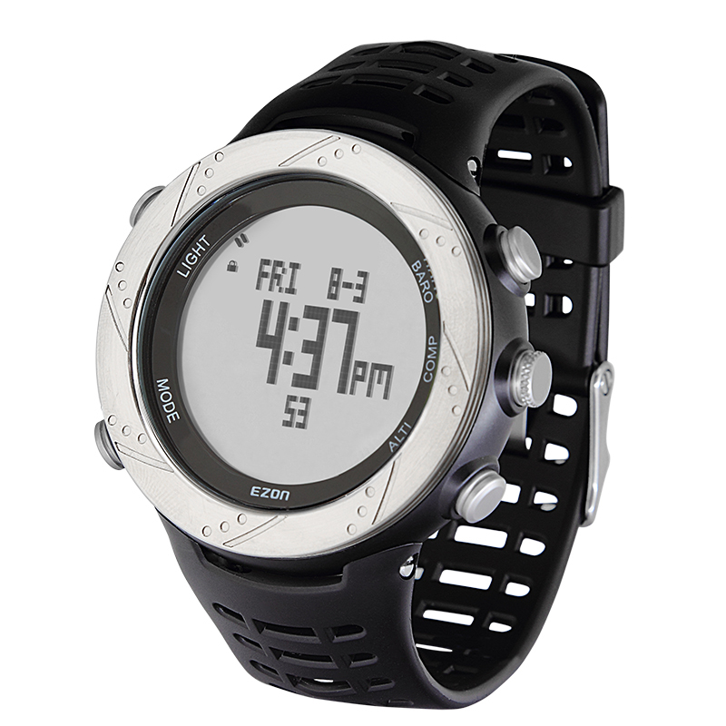 Ezon commercial electronic men's watch wear-resistant elastic table hiking sheet h001d11(China (Mainland))