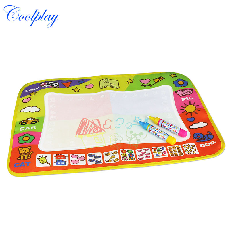 New Aqua Doodle Children's Drawing Toys Mat Magic Pen Educational Toy 1 Mat+ 2 Water Drawing Pens 45.5X29cm CP1305(China (Mainland))
