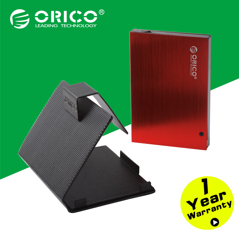 """ORICO 25AU3-RD 2.5"""" External USB3.0 Aluminum HDD Enclosure with Protective Leather case(Not including HDD)(China (Mainland))"""