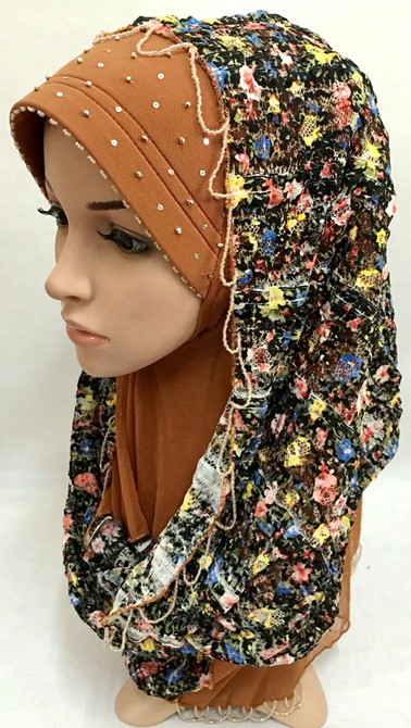 bs010 big size hand-made beading embroidered malaysia boutique higabs with lace scarf patchwork(China (Mainland))