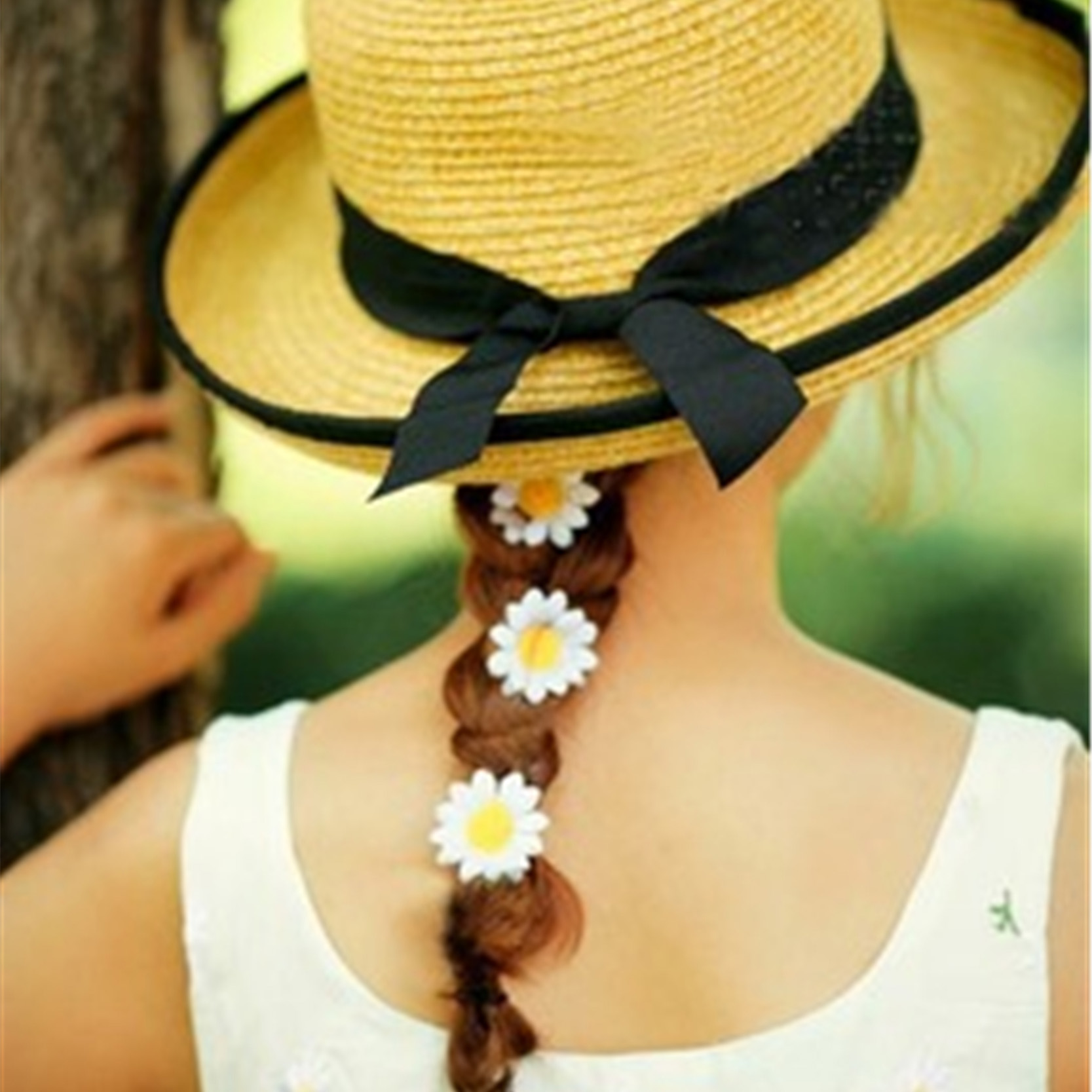 2016 Summer Style Daisy Hair Clips Metal Clip With Flowers Lady Fashion Style Hairpin Korean Style For Girls Hair Accessories(China (Mainland))