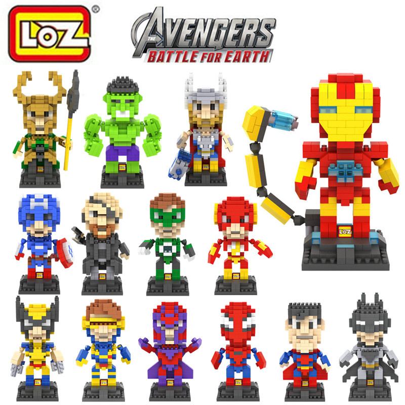 The Avengers Figure LOZ nano blocks New Arrivals Super Hero Diamond Building Blocks Mini DIY Bricks Model Toy Brinquedos Meninos(China (Mainland))
