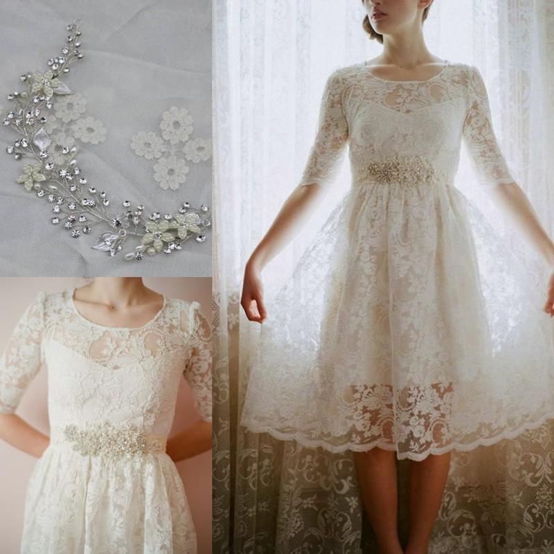 2016 short beach wedding dresses for boho chic bohemian for Boho country wedding dress