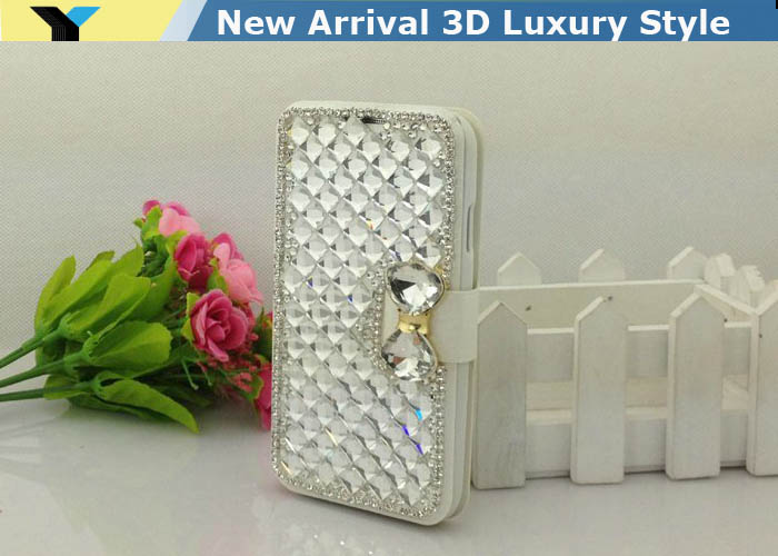 6 colors Bling 3D Shiny Crystal Rhinestones Colorful diamond Cover case For Samsung Galaxy Mega 6.3 I9200 I9205(China (Mainland))