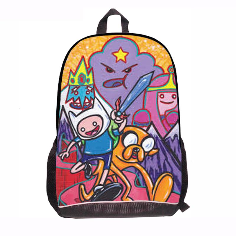 2015 New Fashion Cartoon Adventure Time Backpack for Children Student School Bag in Jake Finn Design for Kids School Rucksack<br><br>Aliexpress
