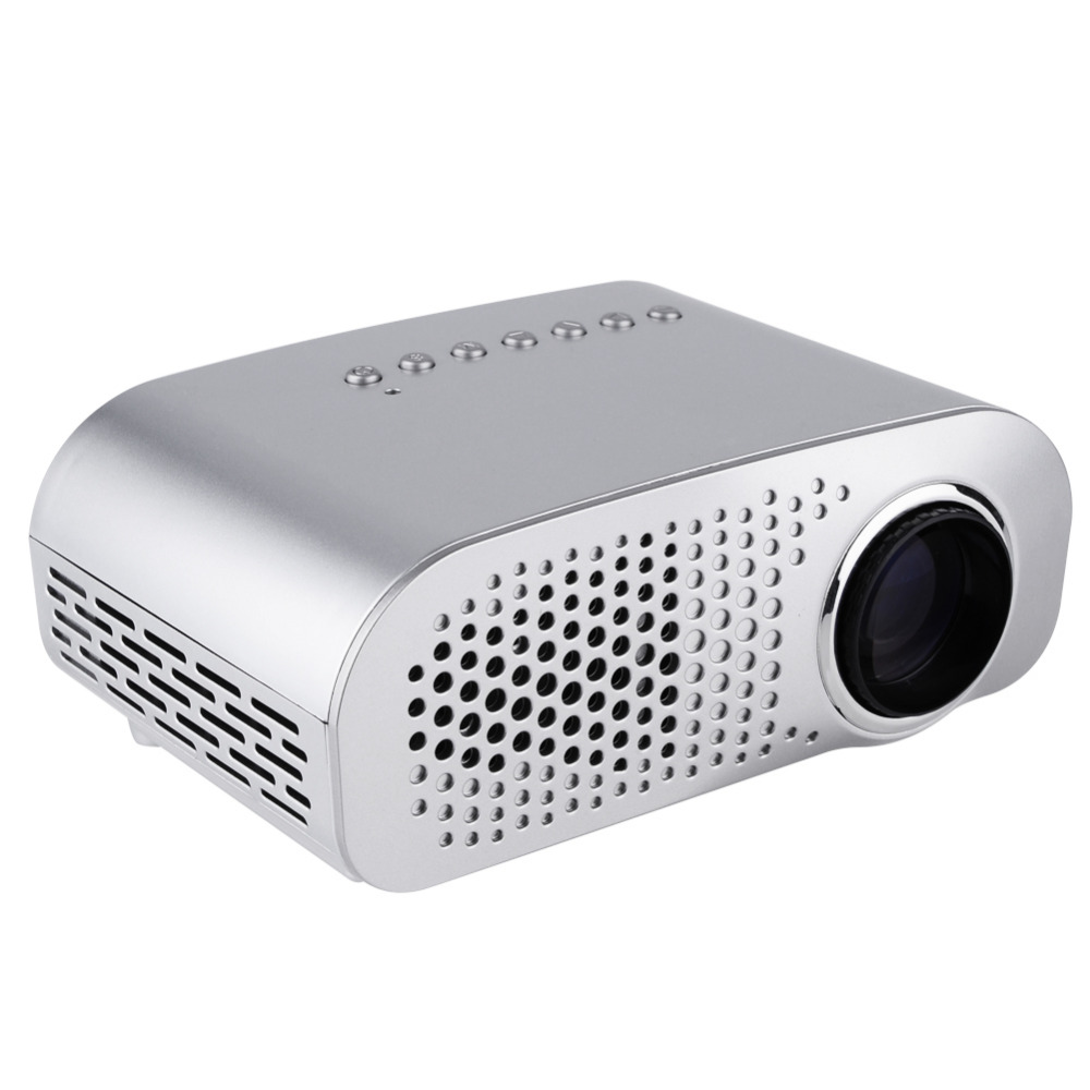38w portable mini projector gp802a 1080p hd home theater for Hd projector small