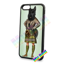 Scottie dog kilt scottish terrier Animal hard skin cell phone cases cover housing for iphone 4s 5s 5c 6 6plus cover cases