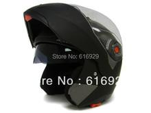 TKD Matte Black Full Face HELMET Dual Visor Modular Flip Up Motorcycle Helmet DOT WINTER COLD-PROOF HELMET(China (Mainland))