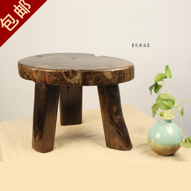 Japan japanese exports burn paulownia wood stool changing