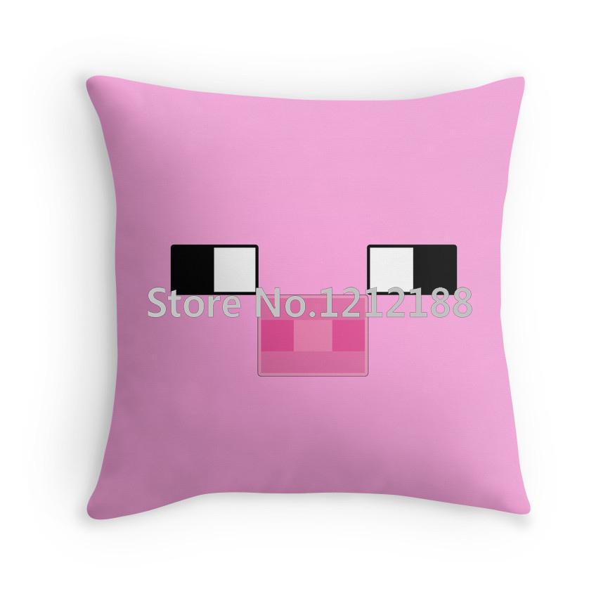 Pillowcase minecraft piggy decorative pillowcases 16 18 20 for White craft pillow cases