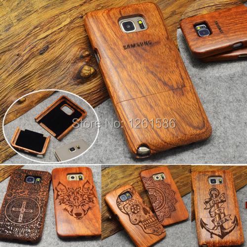 100% Handmade Edge Multi-Pattern Wood Bamboo Celular Case For Samsung Galaxy S4 mini S5 Neo/S7 S6 Edge Plus NOTE 5/4/3 J3 A3 A5(China (Mainland))