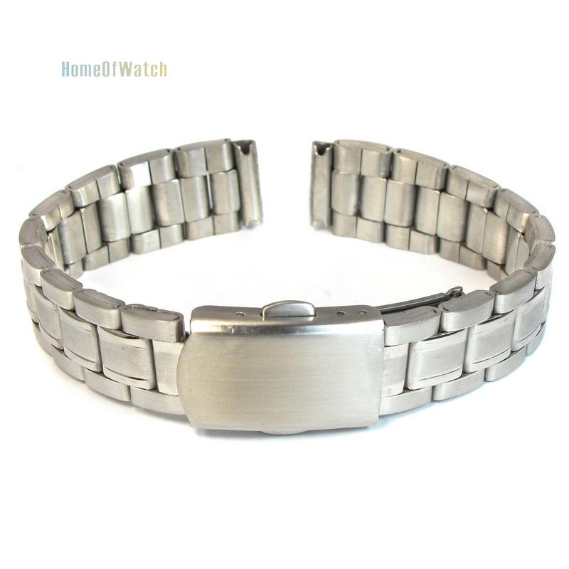 14mm Stainless Steel Polished Metal Watch Bracelet Straight End Solid Links(NBW0BD8047-SI314)(China (Mainland))