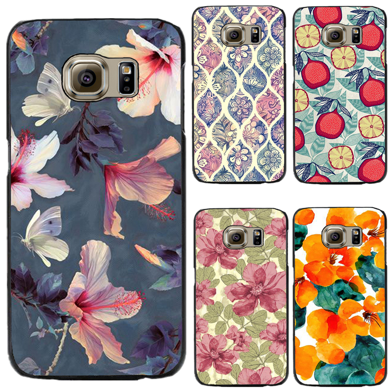 Black Hard PC Phone Cover Cases For Samsung Galaxy S3 S4 S5 S4Mini S5Mini Case Shell Painted With Many Flowers Very Suprise Nice(China (Mainland))