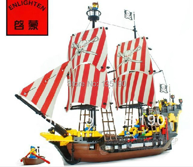 Enlighten 308 872014 hot sales 3D DIY large bricks Building Blocks sets eductional blocks children toys Pirates Series  -  dina tang's store store